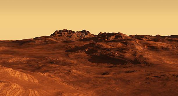 Martian Landscape Illustration stock photo