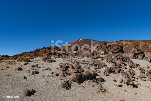 istock Martian landscape on the eastern slopes of Montana Blanca Mirador las Minas de San Jose, Teide National park, Tenerife, Canary islands, Spain 1258014891