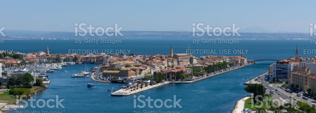 Martigues - France - panoramic stock photo