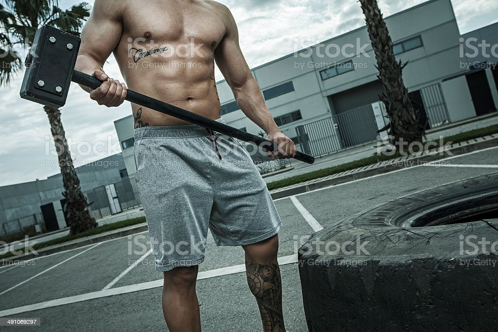 martillo de entreno stock photo