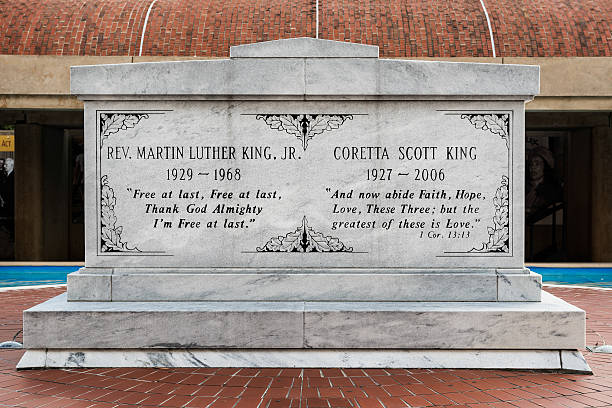 martin luther king y coretta tumba - martin luther king jr day fotografías e imágenes de stock