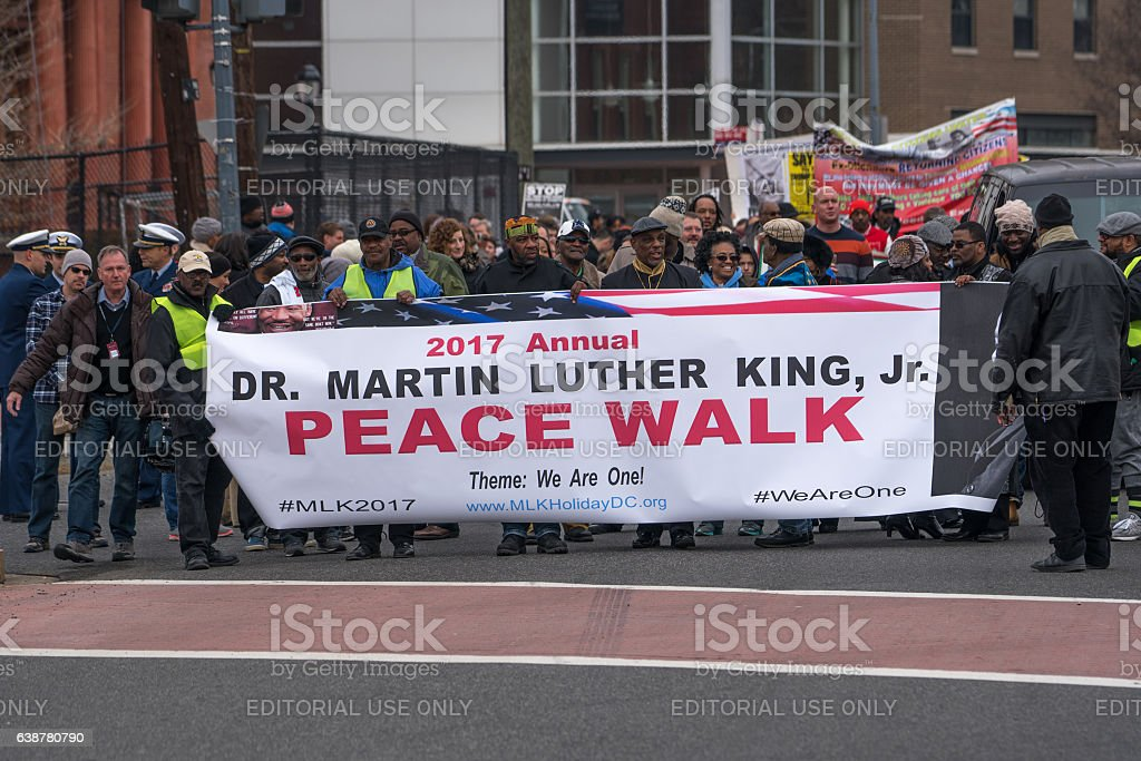 Martin Luther King, Jr. Day Peace Walk and Parade. stock photo