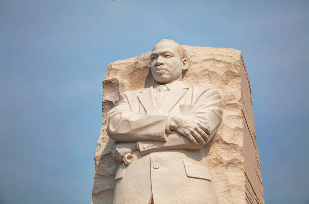 Martin Luther King, Jr memorial monument in Washington, DC stock photo