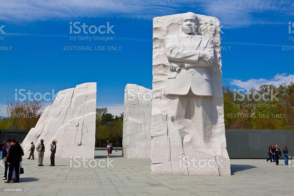 Martin Luther King Jr. Memorial, Washington DC. Clear blue sky. stock photo