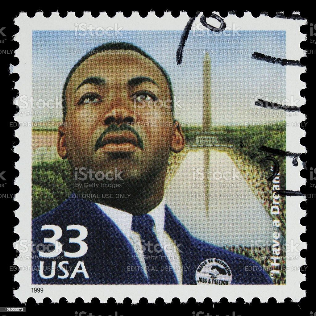USA Martin Luther King Jr postage stamp stock photo