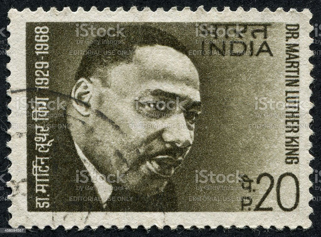 Martin Luther King Jr. Stamp stock photo