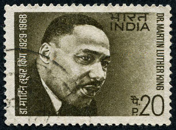 Martin Luther King Jr. Stamp Richmond, Virginia, USA - June 17th, 2012: Cancelled Stamp From India Featuring The American Civil Rights Leader, Martin Luther King Jr. mlk stock pictures, royalty-free photos & images