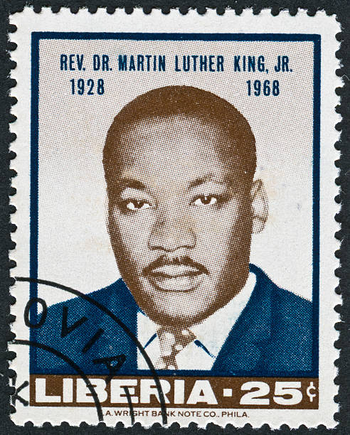 martin luther king jr. stamp - martin luther king jr stok fotoğraflar ve resimler