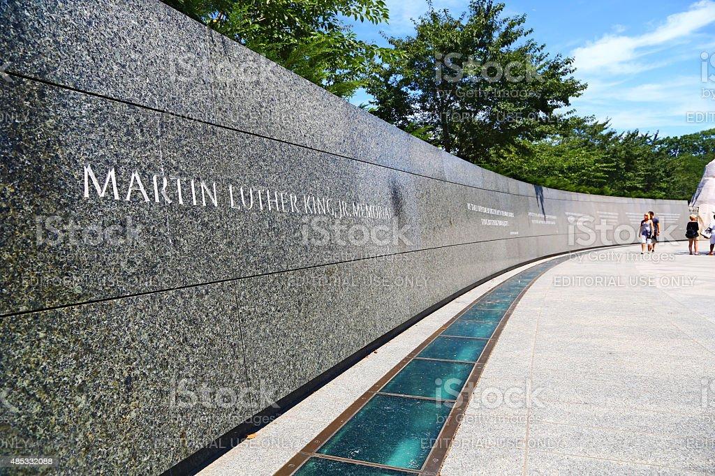 Martin Luther King Memorial in Washington D.C. stock photo