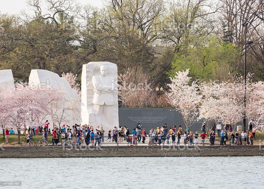 Martin Luther King Monument Washington DC stock photo