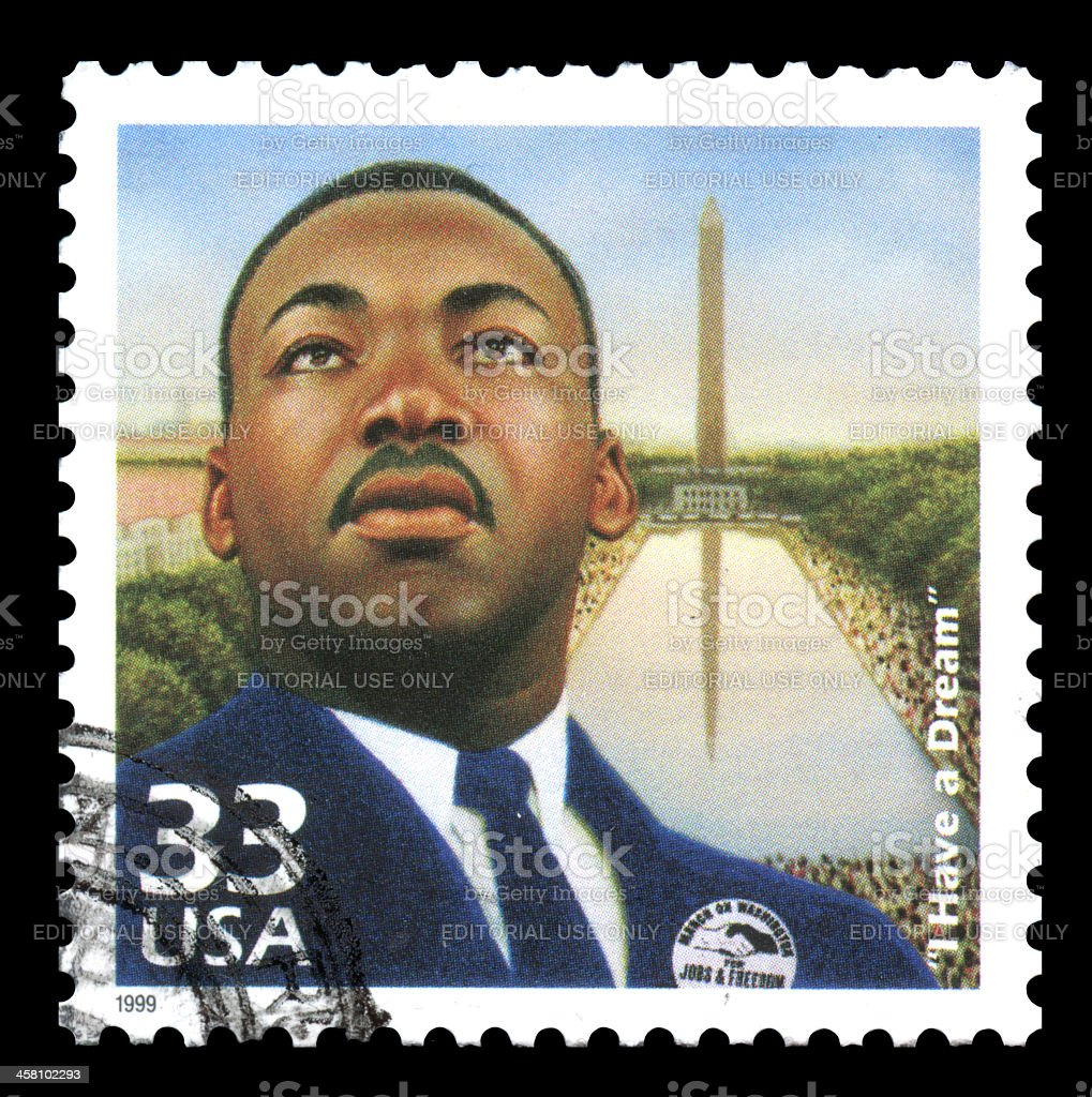 Martin Luther King USA Postage Stamp stock photo