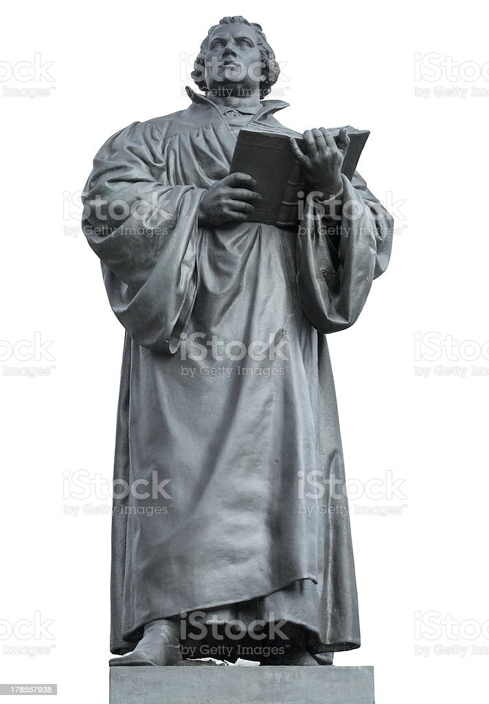 Martin Luther memorial stock photo