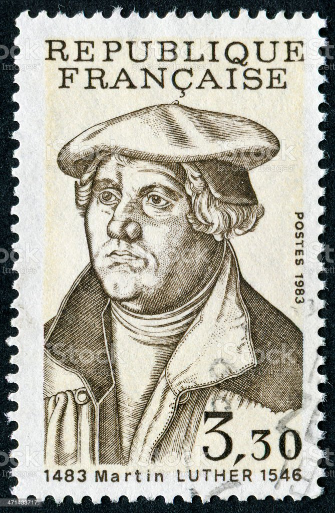 Martin Luther Stamp stock photo