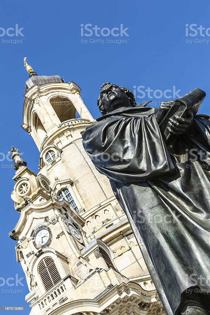 Martin Luther statue in Dresden royalty-free stock photo