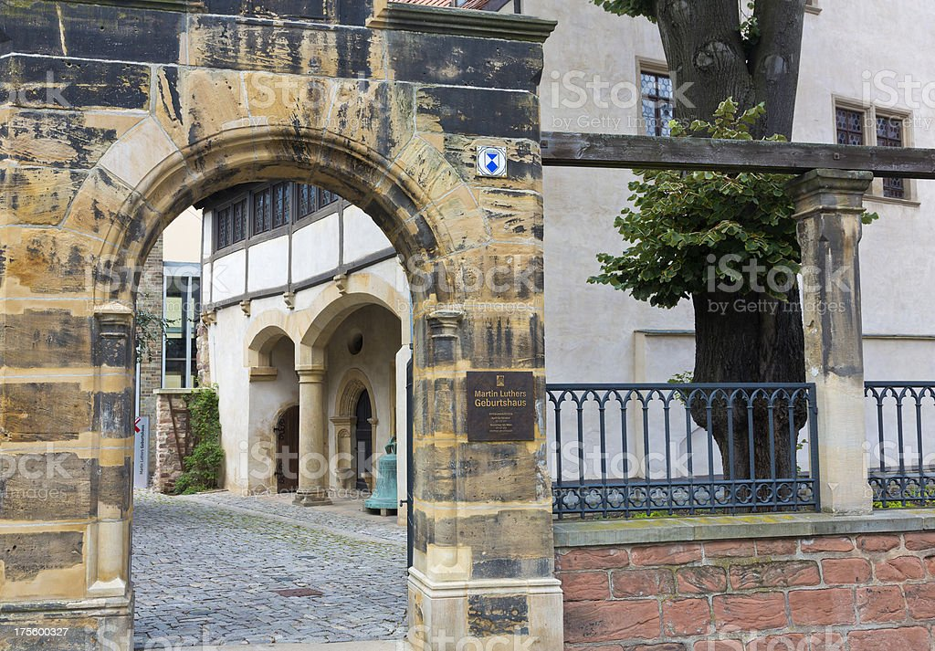 Martin Luther´s birthplace museum stock photo