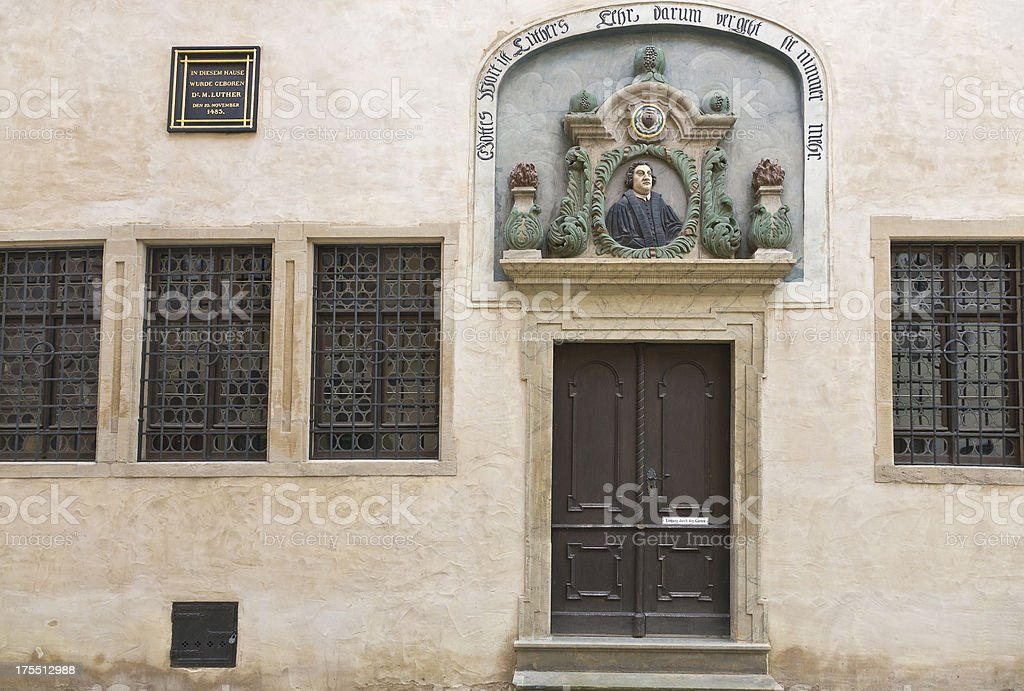 Martin Luther´s birthplace stock photo