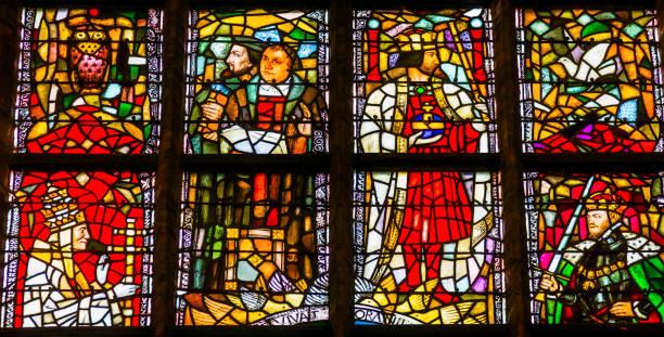 馬丁 luthur 染色玻璃新大教堂 nieuwe 柯克代爾夫特荷蘭 - martin luther king 個照片及圖片檔