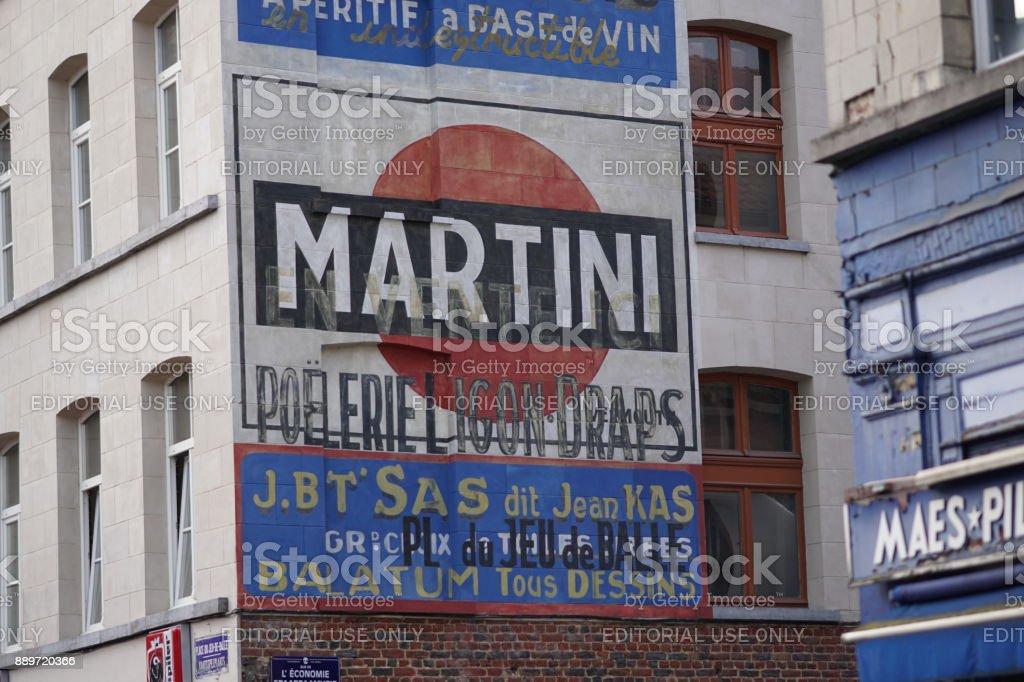 Martini advertising on building exterior stock photo