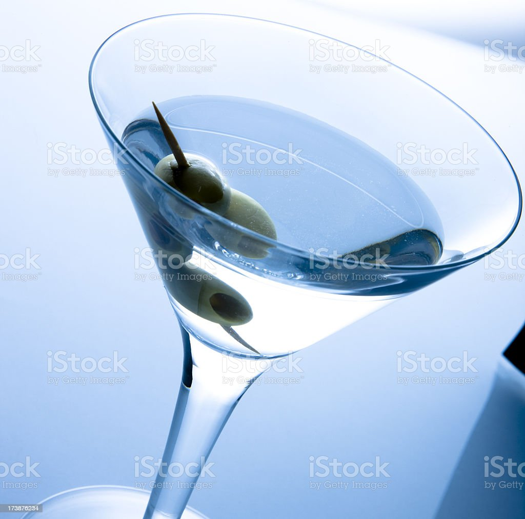 Martini and vine royalty-free stock photo