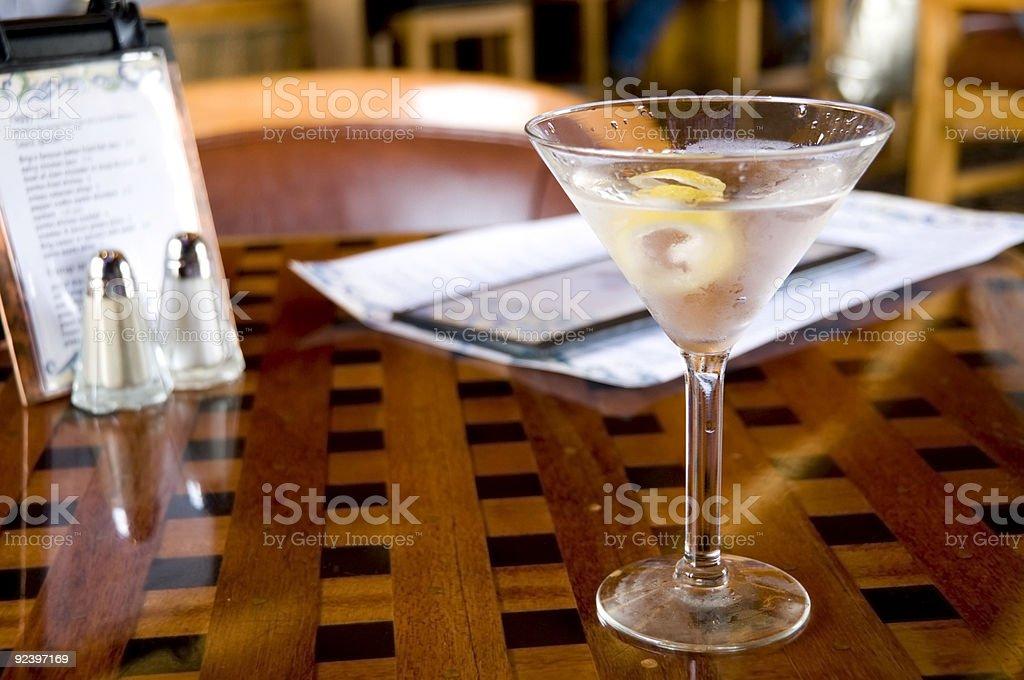 Martini at Happy Hour royalty-free stock photo