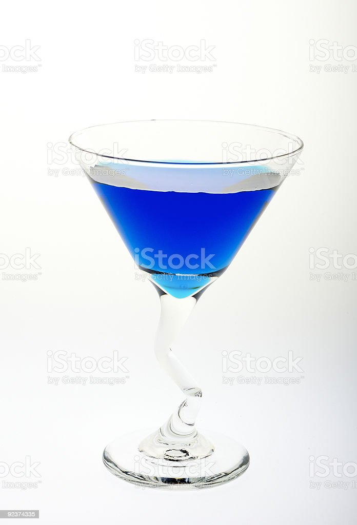 Martini Blue royalty-free stock photo
