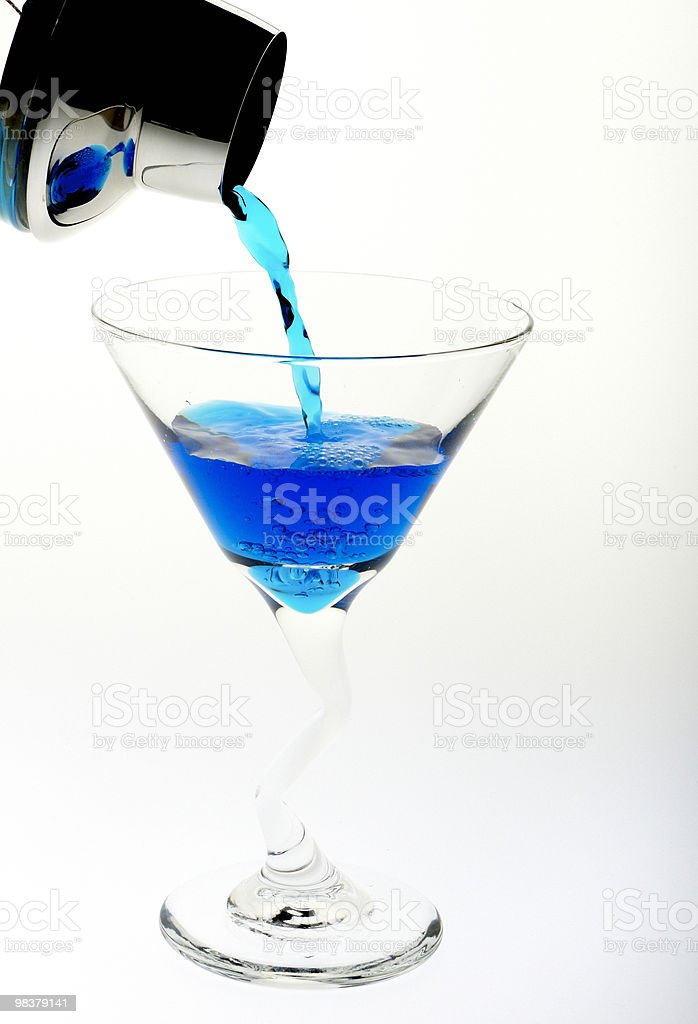Martini Blue royalty-free stock photo