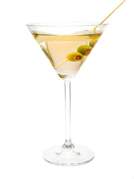 Martini cocktail isoliert auf weißem Hintergrund – Foto