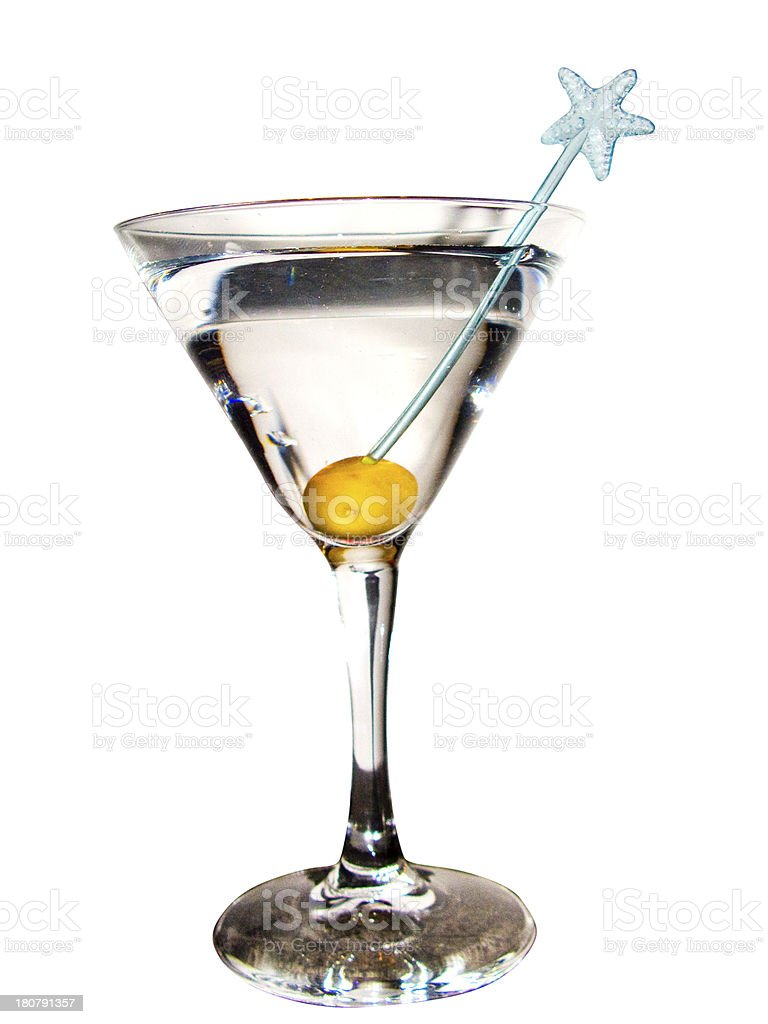 Martini cocktail royalty-free stock photo