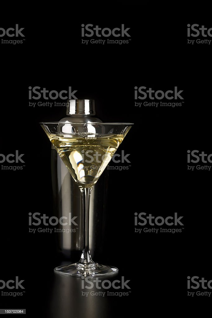 Martini drink with cocktail shaker royalty-free stock photo
