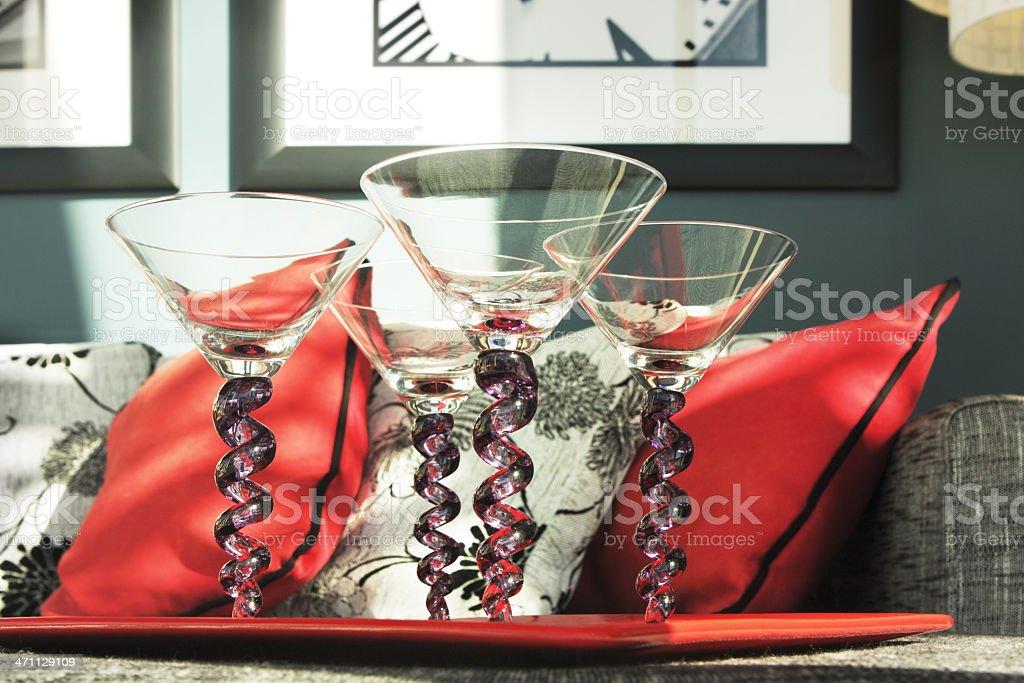 Martini Glass Cocktail Stemware royalty-free stock photo