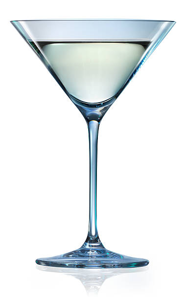 Martini glass isolated on white. With clipping path Martini glass isolated on white. With clipping path martini stock pictures, royalty-free photos & images