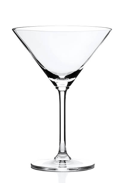 Martini Glass Martini Glass isolated on white martini glass stock pictures, royalty-free photos & images