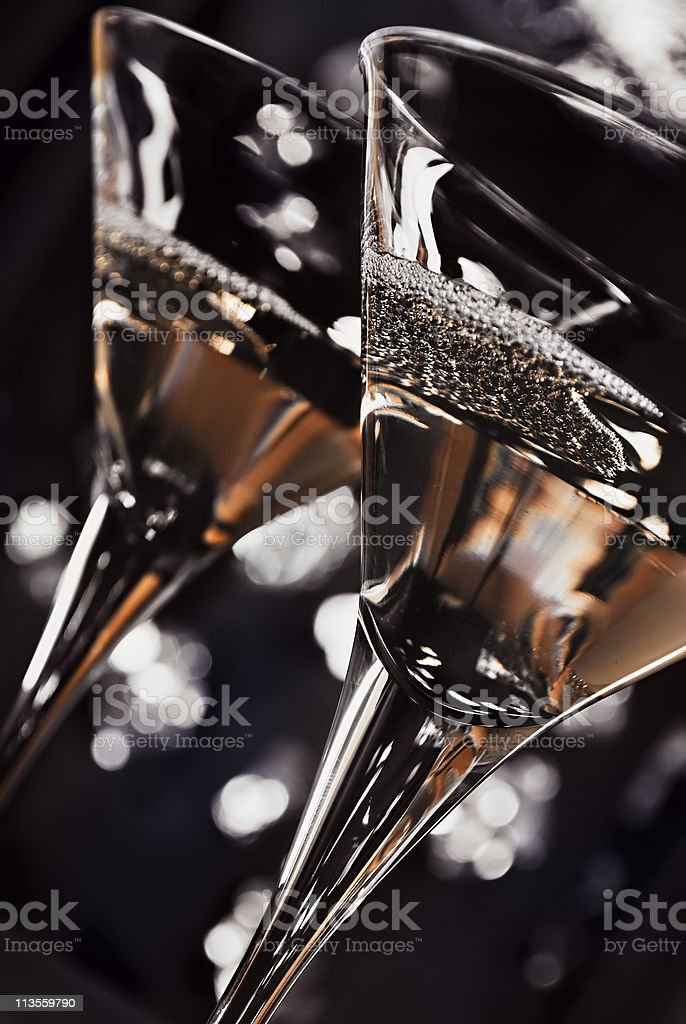 Martini glasses stock photo