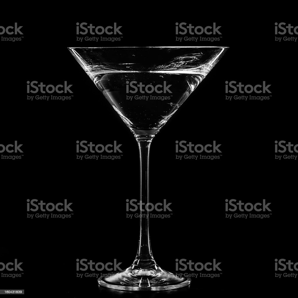 Martini in a cocktail glass royalty-free stock photo
