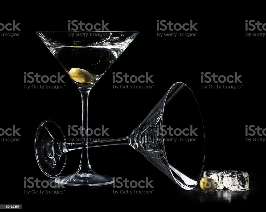 Martini in a cocktail glasses royalty-free stock photo