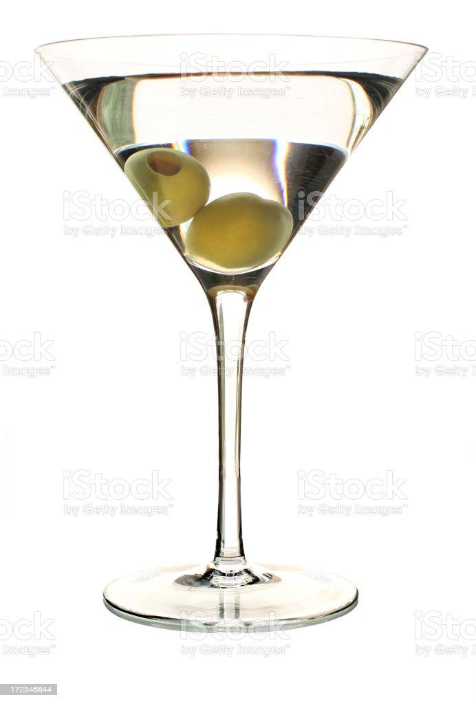 Martini on White royalty-free stock photo
