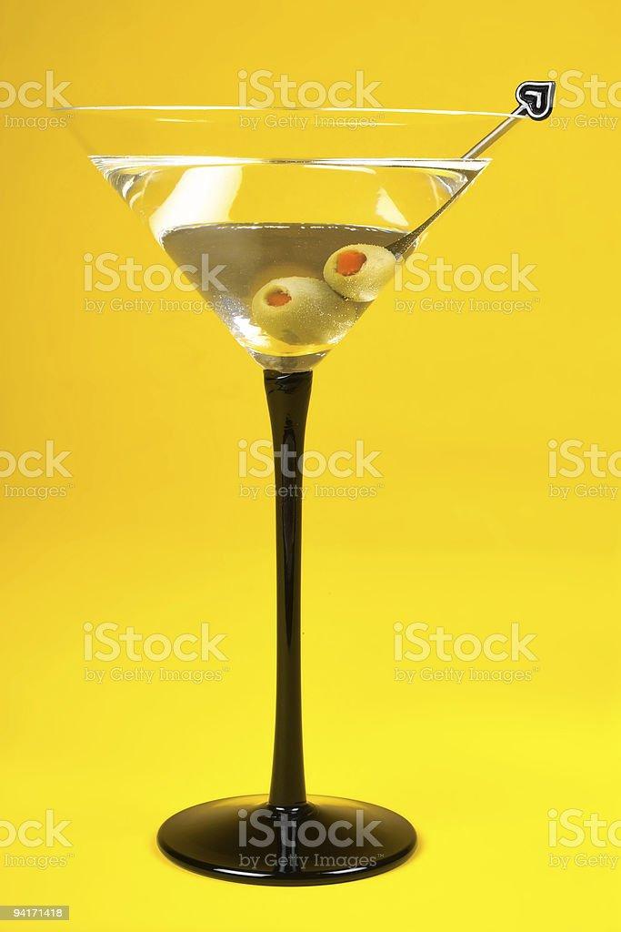 Martini on Yellow II royalty-free stock photo