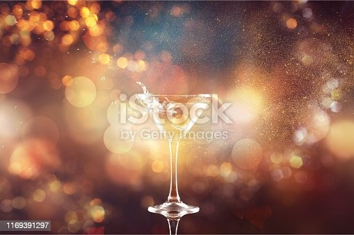 Martini cocktail isolated  on dark white