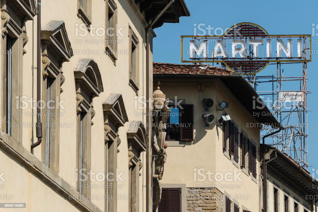 Martini & Rossi, Florence stock photo