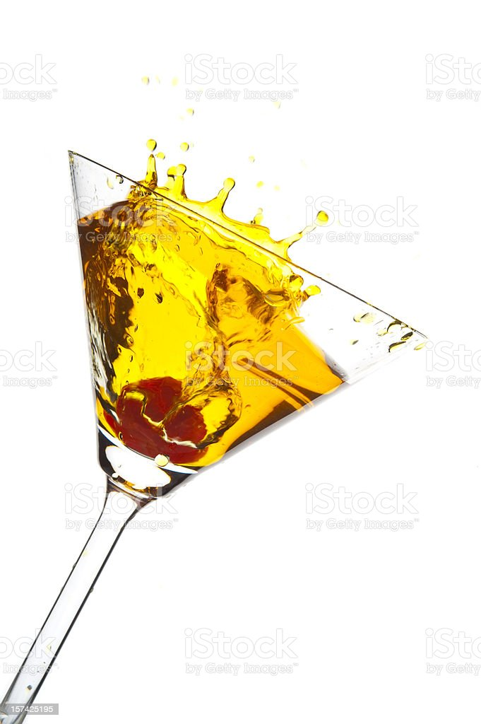 Martini Splash Series royalty-free stock photo