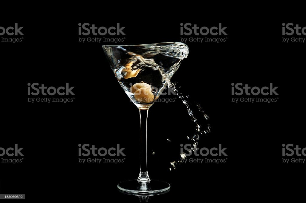 martini splashing royalty-free stock photo