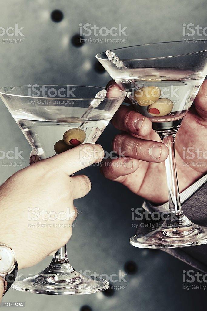 Martini Toast royalty-free stock photo