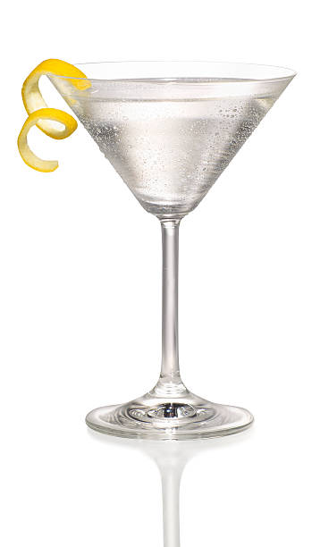 Martini with a lemon twist  martini stock pictures, royalty-free photos & images