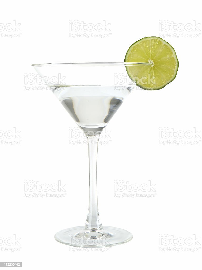 Martini with Lime royalty-free stock photo
