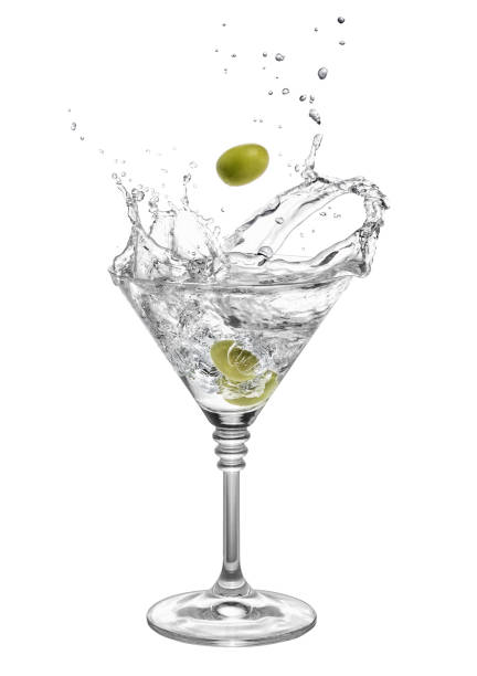 Martini aux olives et éclaboussures - Photo