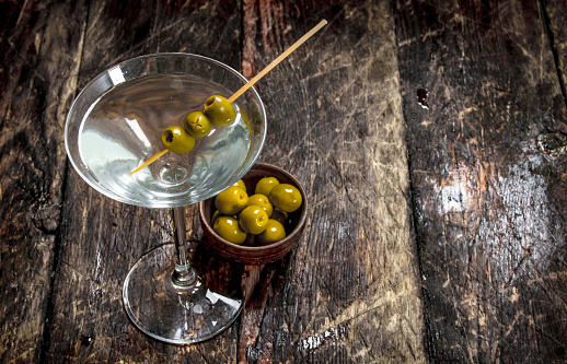 Martini With Olives Stock Photo - Download Image Now