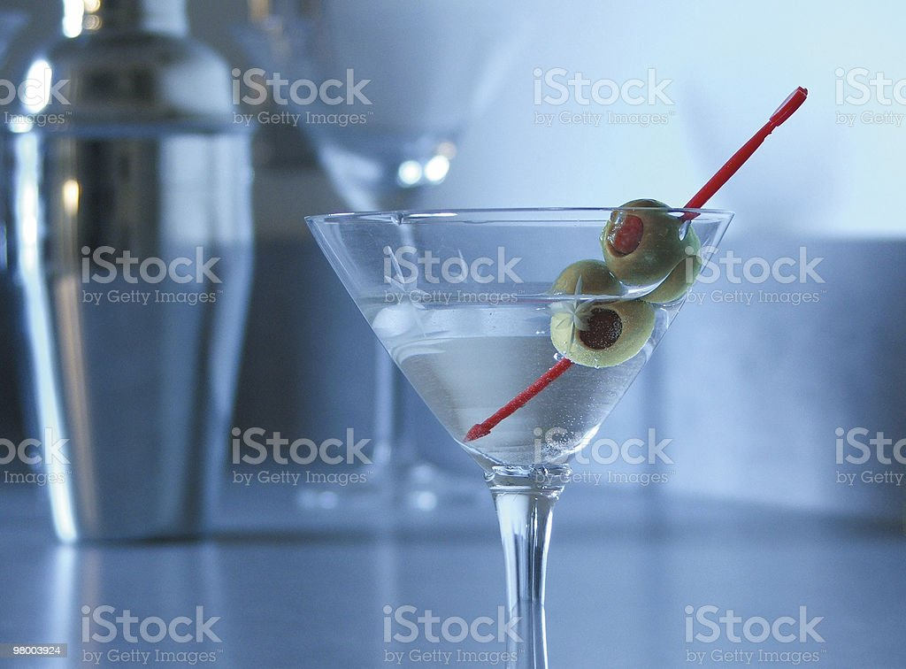 Martini with Olives royalty free stockfoto