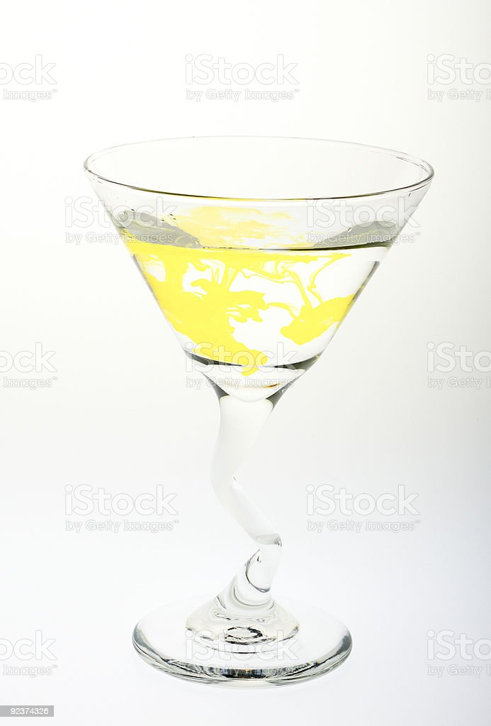 Martini-Gelb Lizenzfreies stock-foto