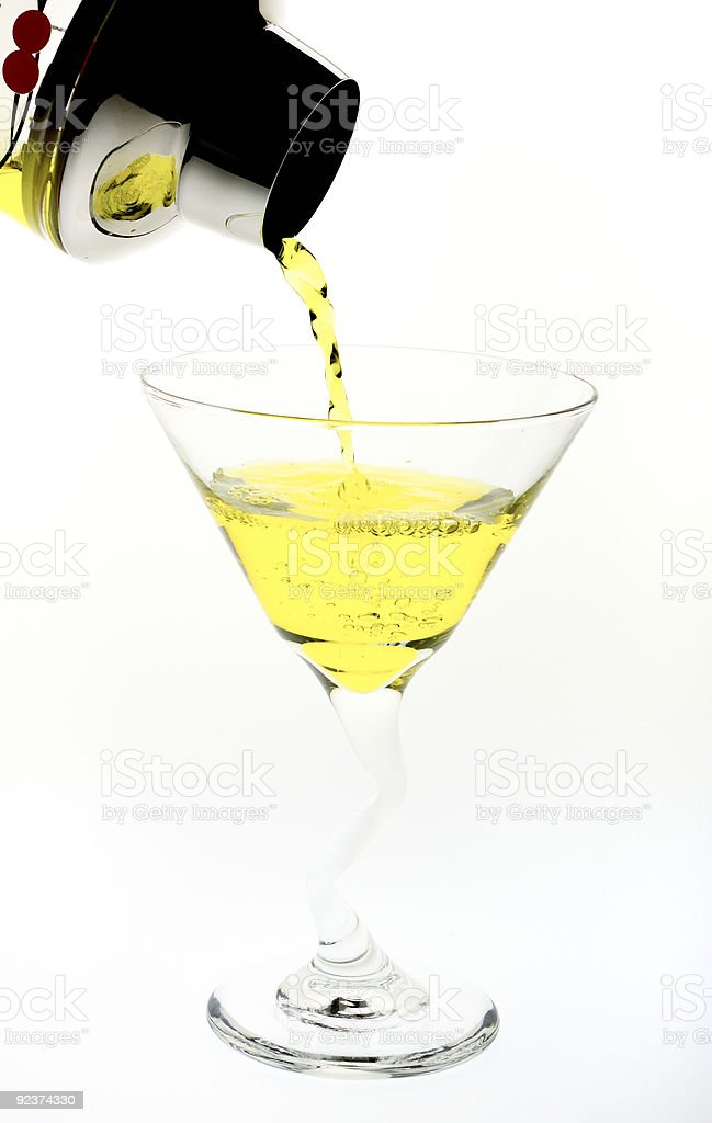 Martini Yellow royalty-free stock photo