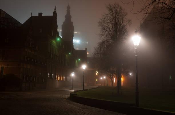 Martinikerkhof at night stock photo